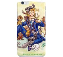 Doctor Mew? (The Sixth Doctor with Cats) iPhone Case/Skin