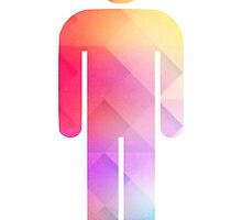 Multicolor retro man symbol by T M B