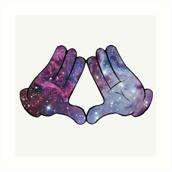 Mickey Mouse Hands Galaxy