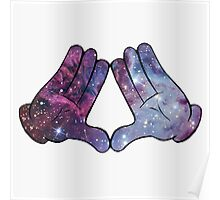 Mickey Mouse Galaxy Hands Poster