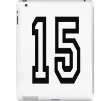 15, TEAM SPORTS, NUMBER 15, FIFTEEN, FIFTEENTH, Competition,  iPad Case/Skin