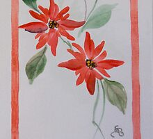 Red border flower by Donna Mearns