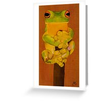 Frog on top Greeting Card