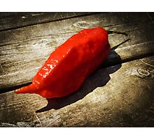 Rustic Ghost Chili Photographic Print