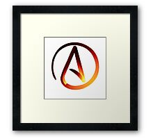 Red Hot Atheist Symbol Framed Print