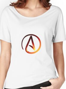 Red Hot Atheist Symbol Women's Relaxed Fit T-Shirt