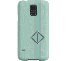 1920s Blue Deco Swing with Monogram letter T Samsung Galaxy Case/Skin