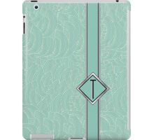 1920s Blue Deco Swing with Monogram letter T iPad Case/Skin
