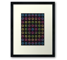 Rainbow Embossed Snowflakes Abstract One Framed Print