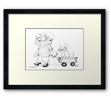 Little (Red) Wagon Framed Print