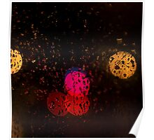 Abstract colourful lights Poster