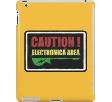 Caution Electronica Area Sign iPad Case/Skin