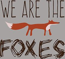 Taylor Swift - We Are The Foxes by bgolddesigns