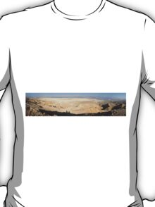Desert landscape overlooking the Dead Sea T-Shirt