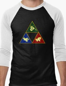 Hoenn's Legendary Triforce Men's Baseball ¾ T-Shirt