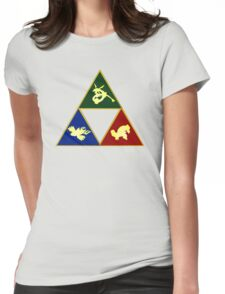 Hoenn's Legendary Triforce Womens Fitted T-Shirt