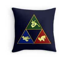 Hoenn's Legendary Triforce Throw Pillow
