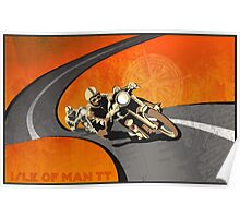 retro motorcycle Isle of Man TT poster Poster