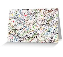 Stringy Theory in Science Patterns Greeting Card