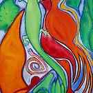 Green Lizard. by Summer Hues