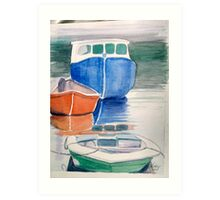 Boats at Peggy's Cove Art Print