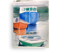 Boats at Peggy's Cove Canvas Print