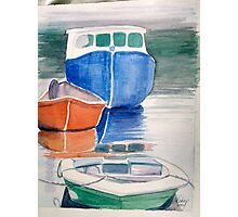 Boats at Peggy's Cove Photographic Print