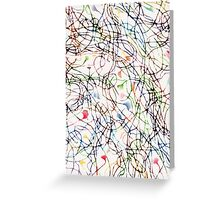 Stringy Theory, Vertical in Science Patterns Greeting Card