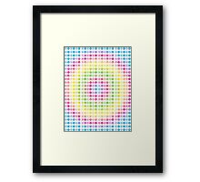 Rainbow Flowers Abstract Seven Framed Print