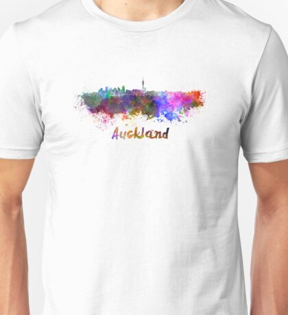 Auckland skyline in watercolor Unisex T-Shirt