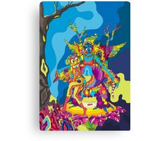 Psychedelic Christmas and New Year poster 2015 Canvas Print