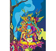 Psychedelic Christmas and New Year poster 2015 Photographic Print