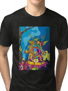 Psychedelic Christmas and New Year poster 2015 Tri-blend T-Shirt
