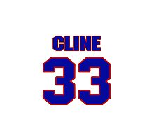 National football player Ollie Cline jersey 33 Photographic Print