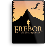Erebor - The Lonely Mountain (The Hobbit) Metal Print