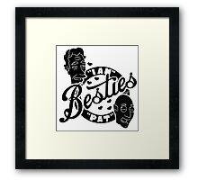 Besties Pat and Ian by Tai's Tees Framed Print