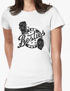 Besties Pat and Ian by Tai's Tees Womens Fitted T-Shirt