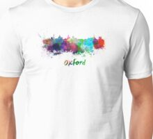 Oxford skyline in watercolor Unisex T-Shirt