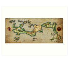 Arcaron old map Art Print