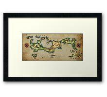 Arcaron old map Framed Print