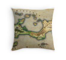 Arcaron old map Throw Pillow