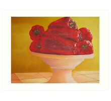 Bowl of Peppers Art Print