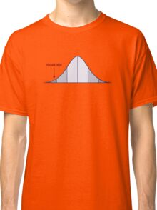 IQ Bell Curve You Are Here Classic T-Shirt