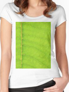 Go Green, Save the Earth - Mother Nature' Veins Women's Fitted Scoop T-Shirt