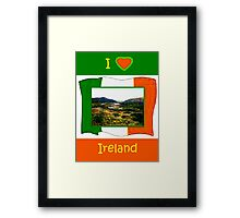 jGibney I Love Ireland 1999 Kerry Lake District Kerry Ireland Flag T-Shirt wb The MUSEUM Red Bubble Gifts Framed Print