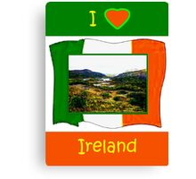 jGibney I Love Ireland 1999 Kerry Lake District Kerry Ireland Flag T-Shirt wb The MUSEUM Red Bubble Gifts Canvas Print