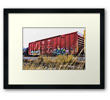 Boxy Red Rust  Framed Print