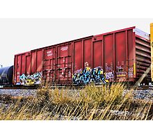 Boxy Red Rust  Photographic Print
