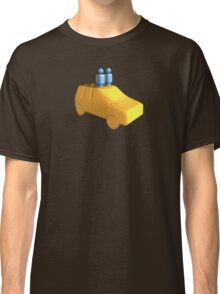 Blue Peg People in a Car Classic T-Shirt