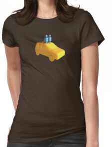 Blue Peg People in a Car Womens Fitted T-Shirt